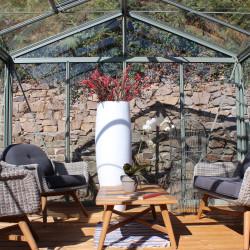 Serre de jardin en verre trempé SUPRA 23 m² - Coloris RAL au choix