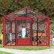 Serre de jardin en verre trempé SUPRA 12 m² - Coloris au choix