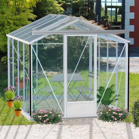 Serre de jardin en verre trempé ESSENTIA 7,30 m² - Coloris RAL au choix