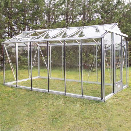 Serre de jardin en verre trempé ESSENTIA 10 m² - Aluminium