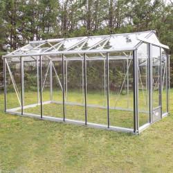 Serre de jardin en verre trempé ESSENTIA 10 m² - Coloris RAL au choix