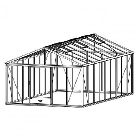 Serre de jardin en verre trempé SUPRA 25,80 m² - Aluminium
