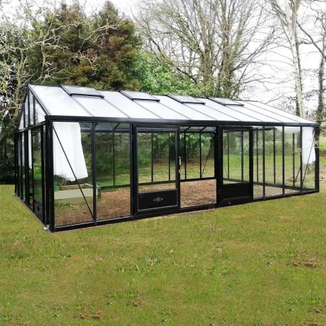 Serre de jardin en verre trempé SUPRA 34,70 m² - Coloris RAL au choix