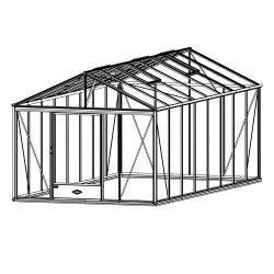 Serre de jardin en verre trempé LUXIA 18,70 m² - Coloris RAL au choix
