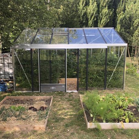 Serre de jardin en verre trempé SUPRA 17,40 m² - Aluminium