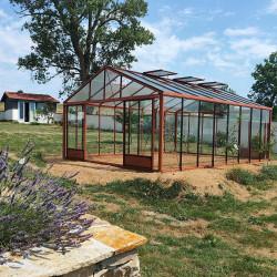 Serre de jardin en verre trempé SUPRA 27,80 m² - Coloris RAL au choix