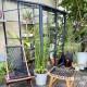 Serre de jardin en verre trempé MELISSA IDA adossée 1,6 m² - Aluminium laqué anthracite