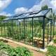 Serre de jardin en verre trempé LUXIA 16,40 m² - Coloris RAL au choix