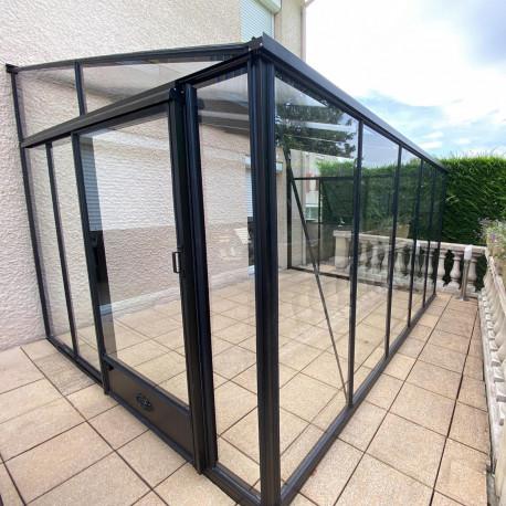 Serre adossée Lams LUXIA 18,48 m² - Aluminium naturel