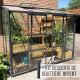 Serre de jardin en verre trempé MELISSA IDA adossée 3,34 m² - Aluminium laqué anthracite