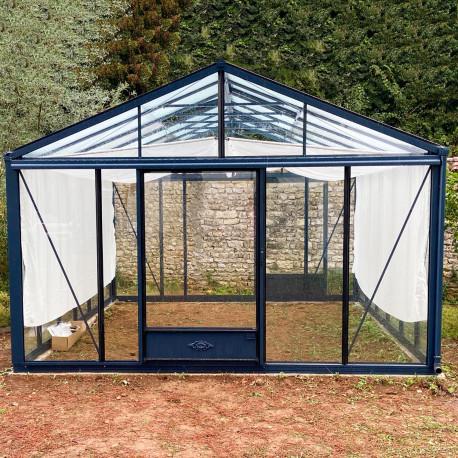 Serre de jardin en verre trempé SUPRA 17,40 m² - Coloris RAL au choix