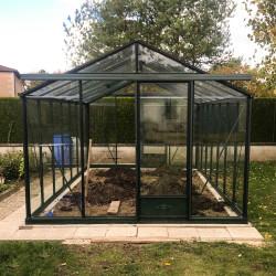 Serre de jardin en verre trempé ESSENTIA 16 m² - Coloris RAL au choix