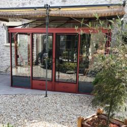 Serre adossée Lams LUXIA 7,20 m² - Aluminium naturel