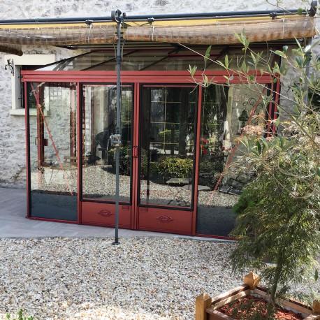 Serre adossée Lams LUXIA 10,65 m² - Aluminium naturel