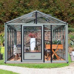 Serre de jardin en verre trempé SUPRA 14,40 m² - Coloris au choix