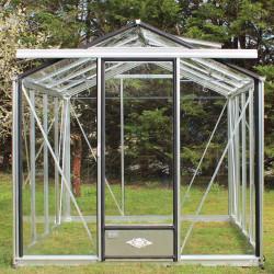 Serre de jardin en verre trempé ESSENTIA 14,25 m² - Aluminium