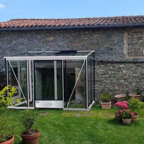 Serre adossée Lams LUXIA 4,88 m² - Aluminium naturel
