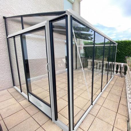 Serre adossée Lams LUXIA 11,63 m² - Aluminium naturel