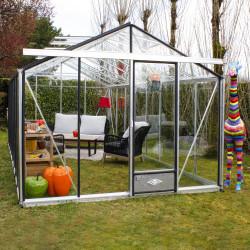Serre de jardin en verre trempé ESSENTIA 16,40 m² - Aluminium
