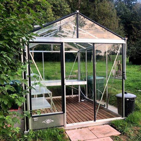 Serre de jardin en verre trempé LUXIA 5,60 m² - Aluminium