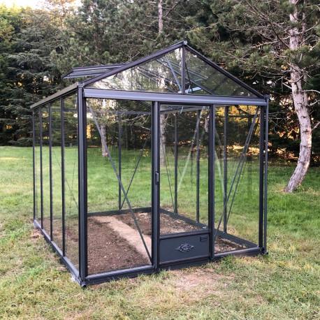 Serre de jardin en verre trempé LUXIA 5,60 m² - Coloris RAL au choix