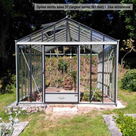 Serre de jardin en verre trempé LUXIA 9,60 m² - Coloris RAL au choix