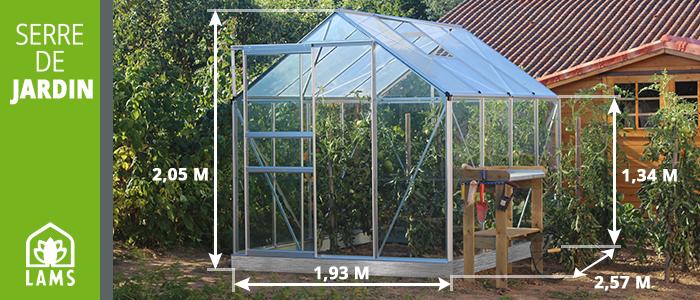 Petite serre de jardin verre et poly