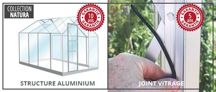 garanties serres de jardin en verre 3 mm LAMS