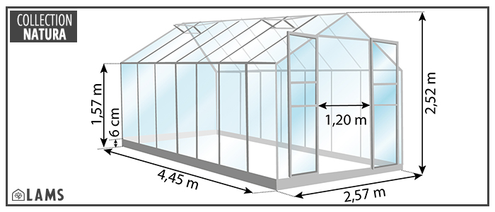 Dimensions uranus 11500 verte