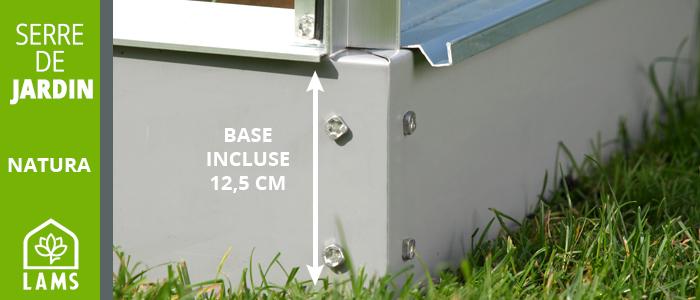 base pour serre de jardin en verre