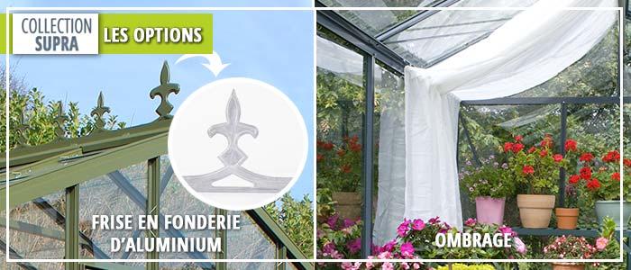 Ombrage pour serre de jardin - Frise disponible en option