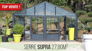 Serre en verre 27m² collection SUPRA de Lams