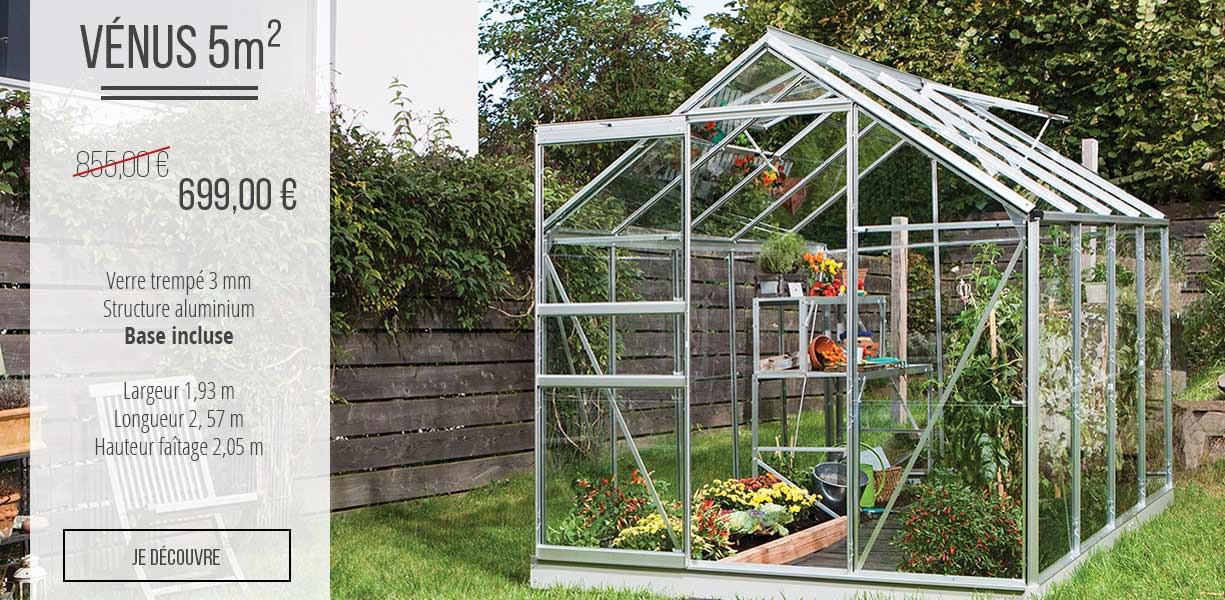 Promotion serre de jardin vénus 500 économisez 141 €