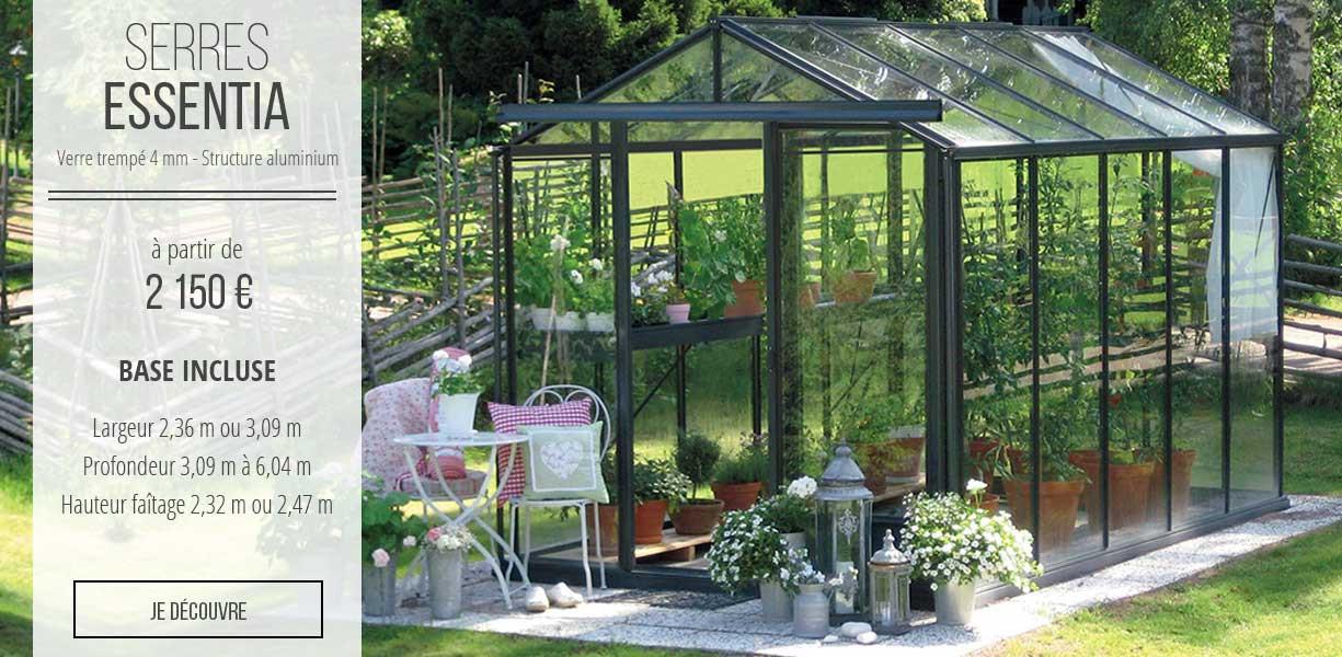 Serres de jardin essentia - serre en verre